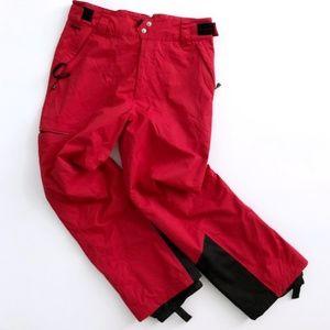 Spyder Red Snowboarding Pants Mens Large